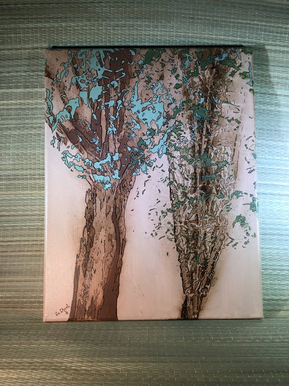 Acrylic Painting/ CanvasArt/Home Decor/ Wall Art/Small Painting