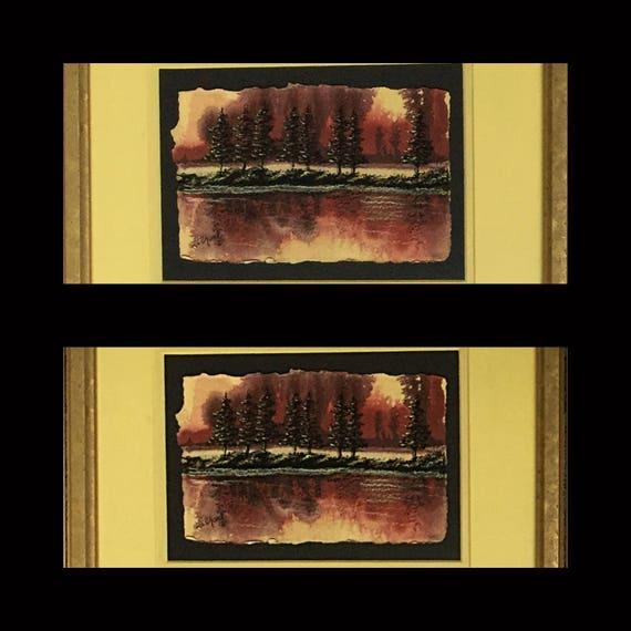 Landscape Painting/HomeDecor/Mixed Media Art/Wall Art