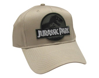 Jurassic Park Movie Logo Forest Green  Desert Sci fi Patch Khaki Snapback  Cap Hat 99ea130889e