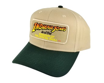 fac6750979771 Indiana Jones the Kingdom of the Crystal Skull movie patch green patch  Snapback Cap Hat