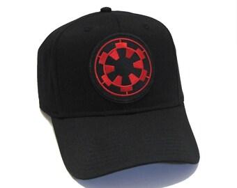 c5ec737ce7b Star Wars Imperial Cog Logo Patch Basecall Snapback Cap Hat - Black