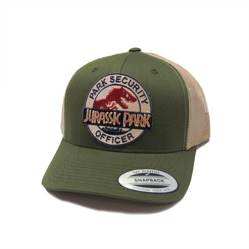 4e8dd363720 Jurassic Park Movie Park Security Officer Patch Green Trucker