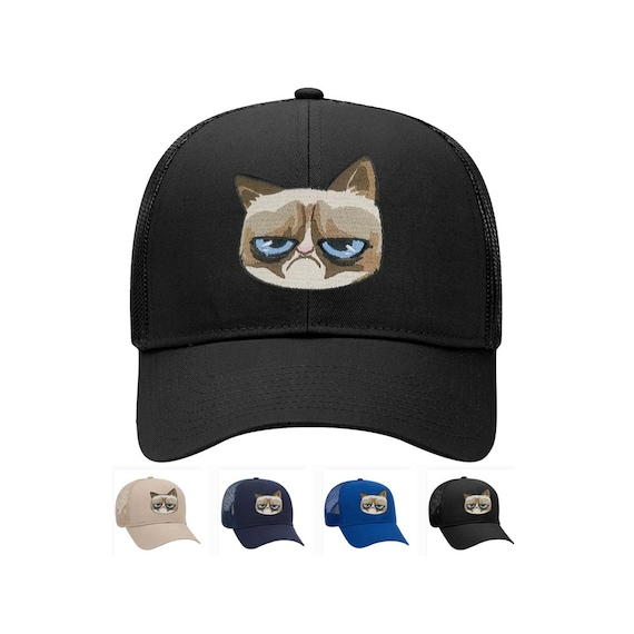 0d903be829e Cute cats embroidered iron on patch trucker mesh back baseball