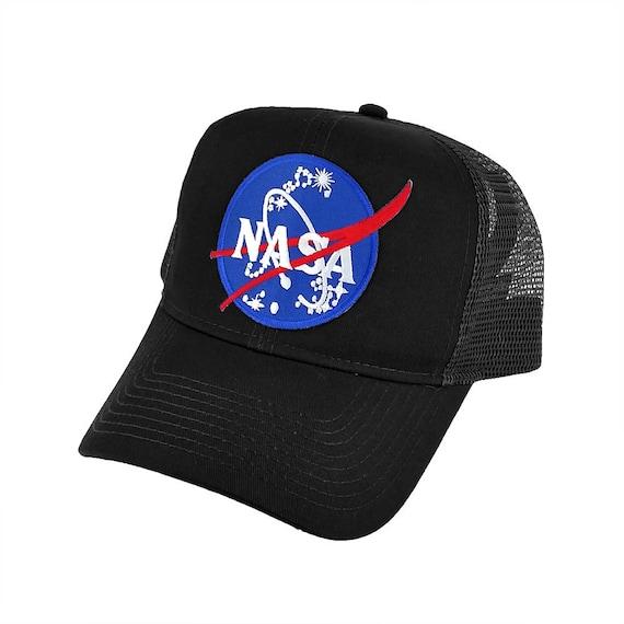 NASA OFFICIAL Emblem Insignia Logo Patch Black Mesh Snapback  3cb7f07d345