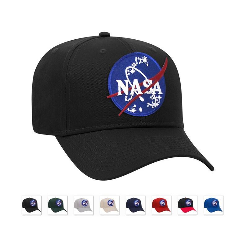 c51a209f9 NASA Official Emblem Insignia Logo Patch baseball adjustable cap or trucker  mesh back caps hats
