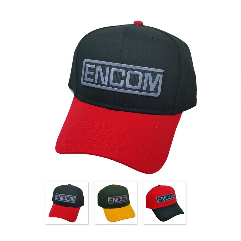 Tron Movie ENCOM Embroidered Sci fi Patch 2tone Snapback Baseball Cap Hat  by Project T