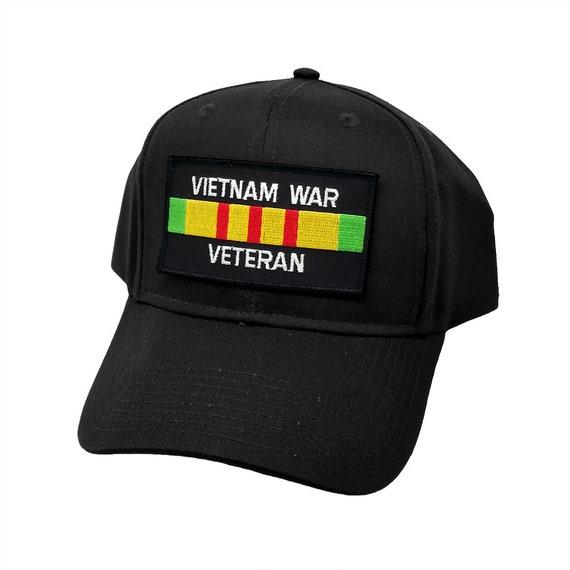 Vietnam Veteran Hat Ribbon Black Baseball Cap