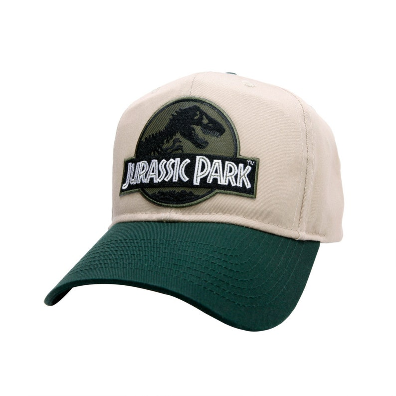 Jurassic Park Movie Forest Green Logo Patch Khaki Green  ab4e27432760
