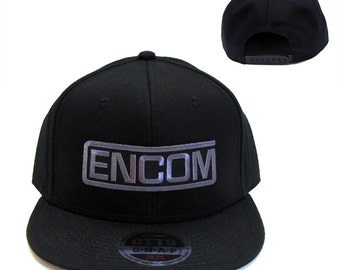 Tron Movie ENCOM Embroidered Patch Flat Bill Snapback Cap Hat by Project T