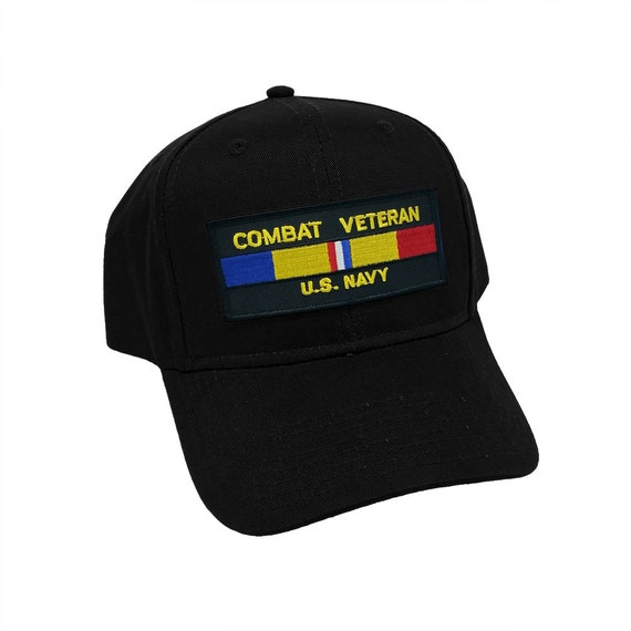 Combat Veteran US Navy Military Patch Snapback Baseball Cap Hat by Project T afb6e5996870