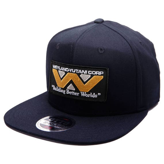 ALIEN Movie Weyland Yutani Corp Sci Fi Patch Royal Snapback Cap Adjustable  Hat