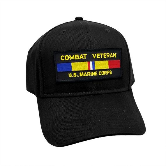 45c5d4972e5 Combat Veteran US Marine Corps Military Patch Snapback Cap Hat