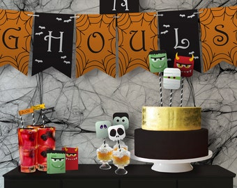 Halloween Monster Bash // Party Kit // Customizable Downloadable + Printable