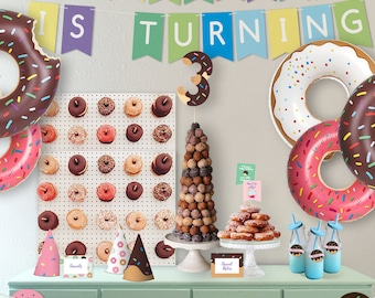 Donuts Party Theme // Party Kit // Downloadable + Printable
