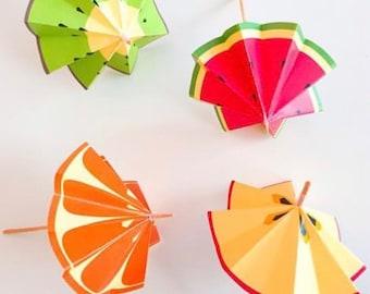 Fruit Umbrellas Only // Tutti Frutti Party Theme // Downloadable + Printable