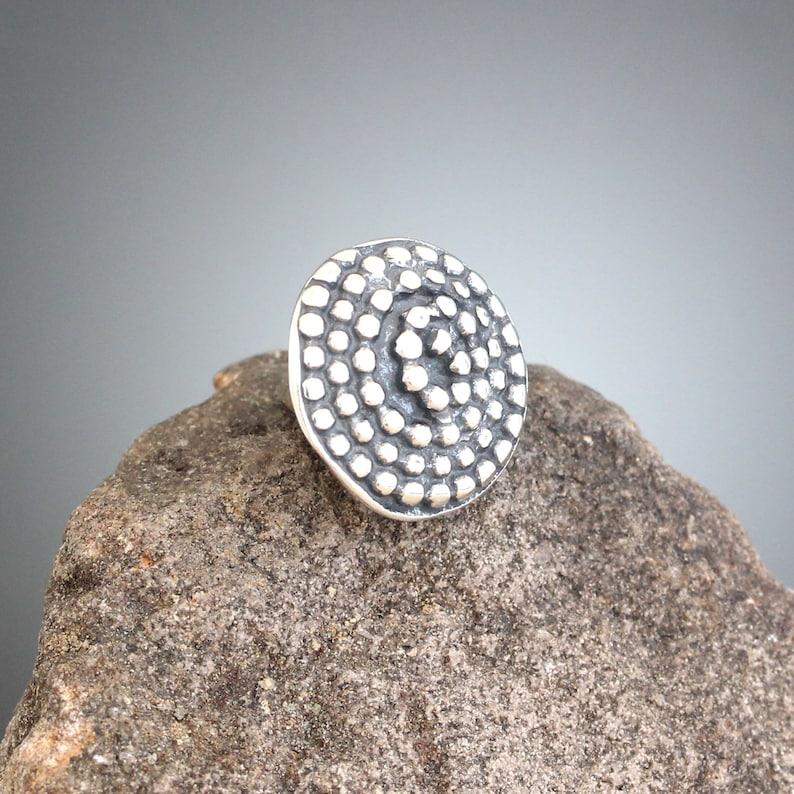 Silver Brooch Spiral Scatter Pin Small Sterling Silver Beaded Spiral Pin Silver Scatter Pin Spiral Brooch -Stocking Stuffer Tie Tack