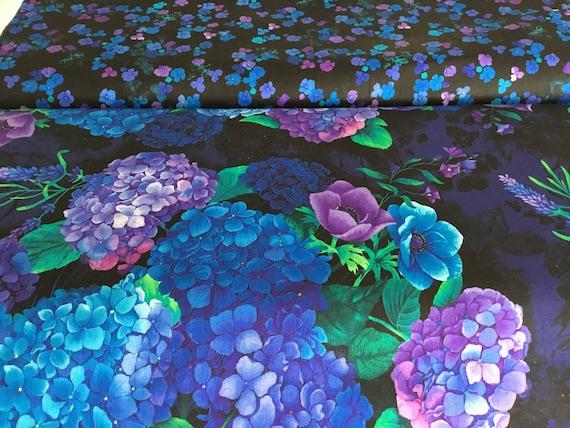 Digital by Chong-A Hwang CD6840 Violet Floral sketch Timeless Treasures Misty