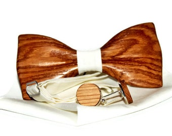Cufflinks with bow ties