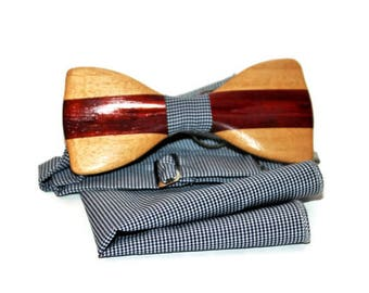 Wooden bow Tie Wood bow tie Bowtie Wood bowtie Wood tie Wooden tie Wooden gift Gift for men Gift idea for him Mens bow tie