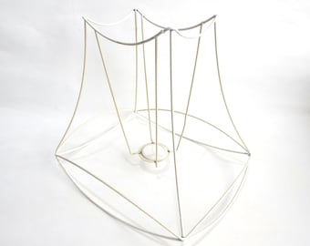 Wire lampshade etsy lampshade frame wire frame authentic vintage lampshade wire frame lampshade frame diy keyboard keysfo Images