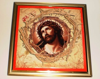 Holy Land Crown of Thorns , Christian wall art , Crown of Thorns ,Authentic Jesus Biblical Crown of Thorns ,Jesus crown , Hand Made , Wall D