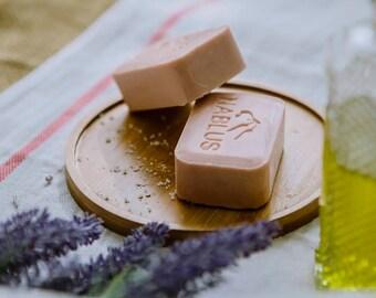 Natural Lavender Soap Bar ,Nablus Olive Oil Soap (100 gm/3.5 oz) Skincare soaps ,Natural soap ,ancient olive oil soap ,Handmade, Holy land