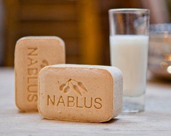 Pure Goat Milk Soap Bar, Nablus Olive Oil Soap (100 gm/3.5 oz) Skincare soaps,Ancient olive oil soap,Natural soap,Holy land