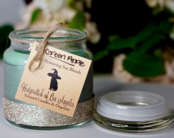 Green Apple 16 OZ Glass Candle