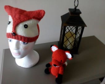 Fox hat and fox toy 1-3 yrs