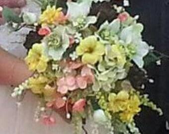 Custom Silk Wildflower Wedding Bouquet