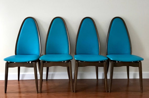 Phenomenal Vintage Mid Century Modern Mcn Folding Chairs Set Of 4 Local Pickup Only Faux Leather Furniture Dining Or Occasional Chairs Gmtry Best Dining Table And Chair Ideas Images Gmtryco