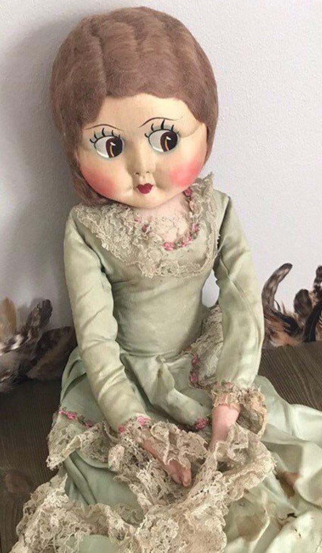 17006d0f1aa Vintage Boudoir doll 28 bed doll flapper girl doll cloth