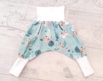 Sarouel bébé, sarouel enfant évolutif en jersey Bébés tigres (du 6/12 mois au 2/3 ans)