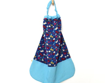 Lined canteen elasticated towel Terry Liberty Blue Fitzgerald