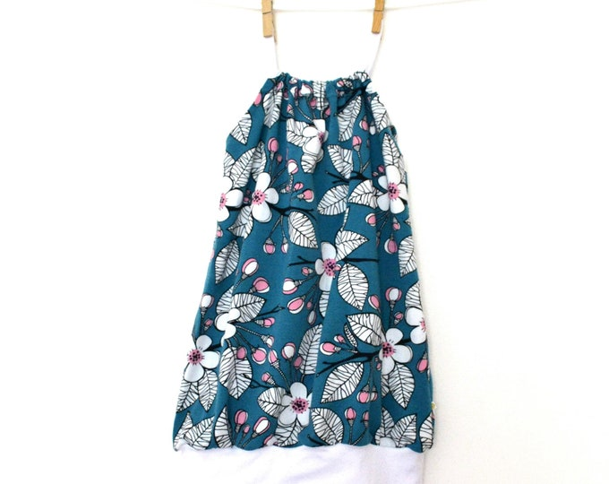 Featured listing image: Baby & child blue oil organic Paapii design Jersey bubble dress (from 12/18 months to 6 years)