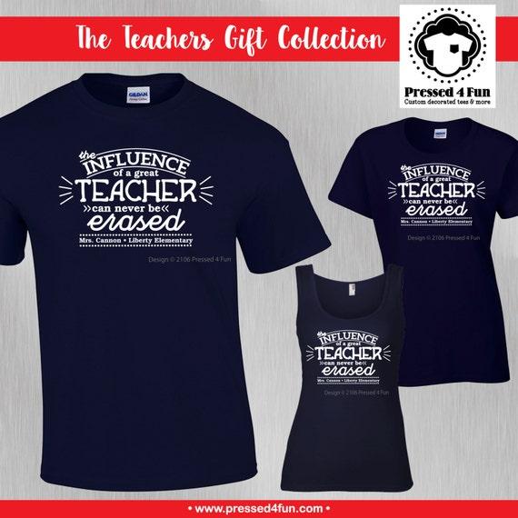8cbe8aab Teacher Shirts: Teacher Influence Design Teacher Gifts | Etsy