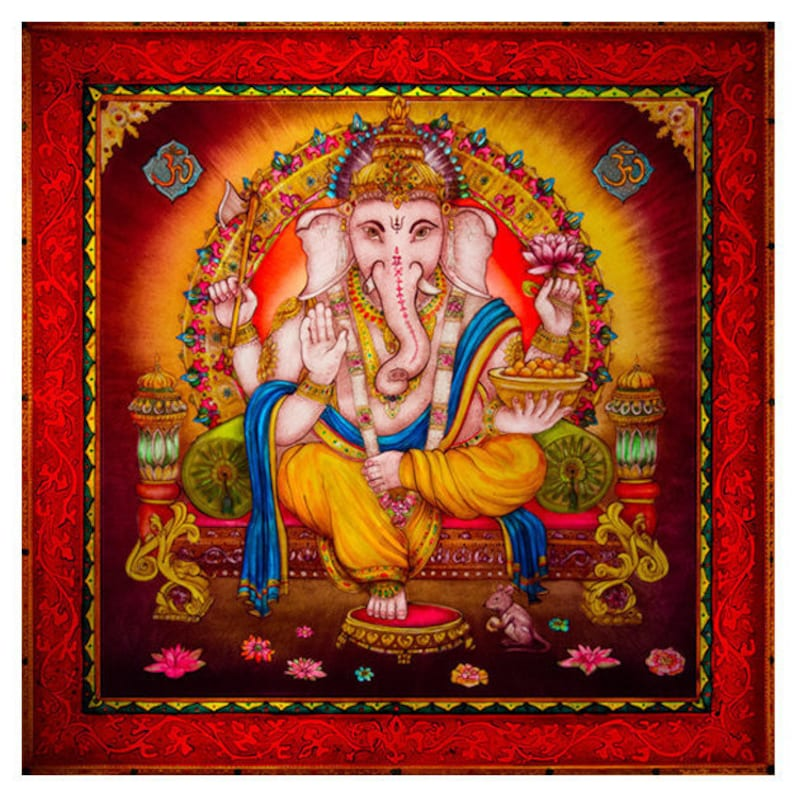 Ganesh. Very beautiful illuminated colour changing glass image 0