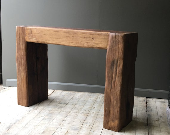 Custom made rustic bench or table in reclaimed oak. MAKE AN OFFER. Guide price only.