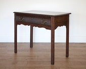 Late 18th century, carved, mahogany side table