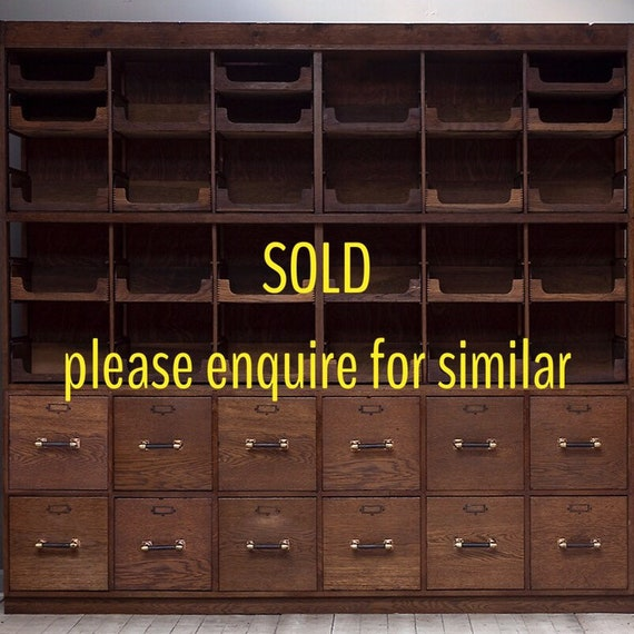 Large vintage haberdashery cabinet