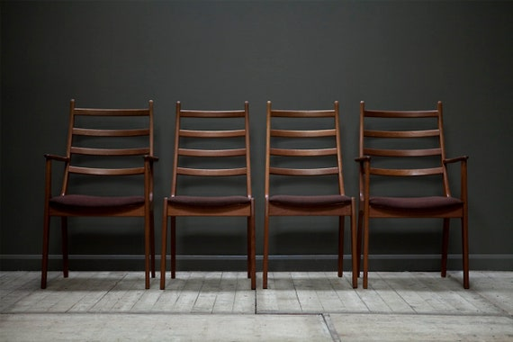 A set of 4 Rosewood Dining Chairs by Kai Kristiansen for Korup Stolefabrik