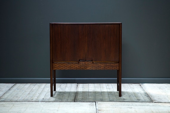 Vintage rosewood drinks cabinet by McIntosh of Kirkcaldy. Circa 1960's.