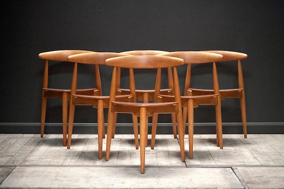 "A set of 6 ""heart"" chairs, model FH4103, Hans Wegner for Fritz Hansen"
