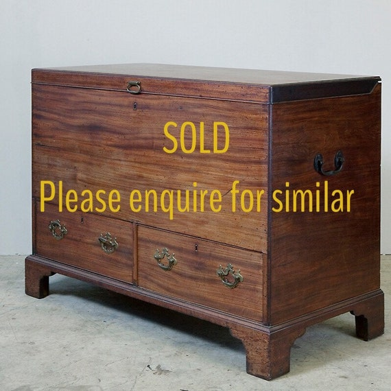 Mule or marriage chest with drawers. Mid 18th century George ll, mahogany. MAKE AN OFFER. Guide price only.