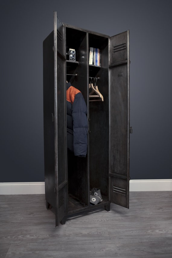 A selection of customisable, vintage, industrial, steel lockers. Guide price only.