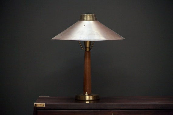 Model 716 brass table lamp by Hans Bergstrom for Ateljé Lyktan.