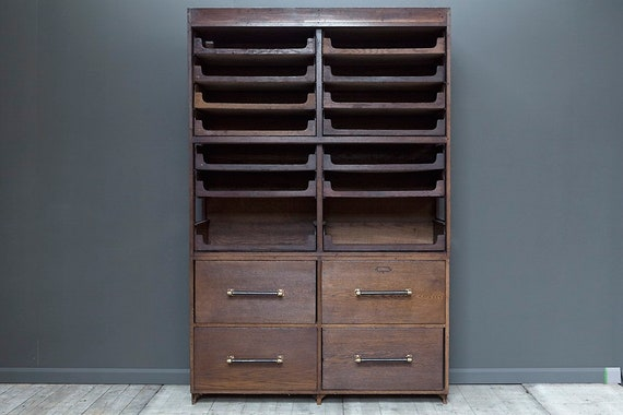 Vintage haberdashery cabinet - 12 trays, 4 drawers. Guide price only.