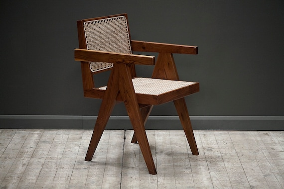 A Pierre Jeanneret Chandigarh Office Chair