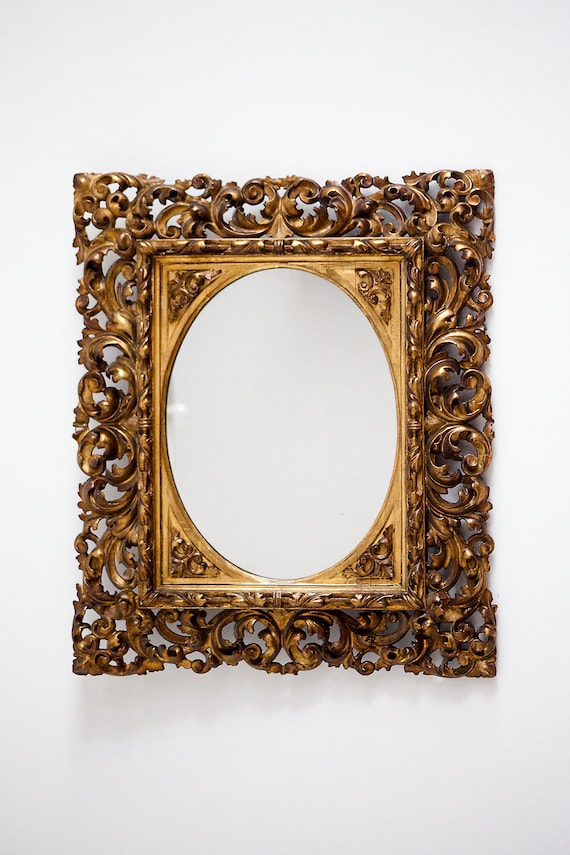 Mirror / picture frame, 1800's, 19th century, antique, Giltwood.