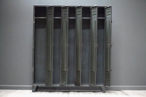A customisable vintage, industrial, five door locker.